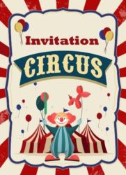 invitation anniversaire cique clown circus festimini