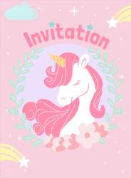 Licorne invitations festimini