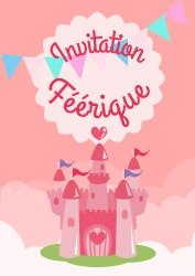 Invitations princesse Festimini