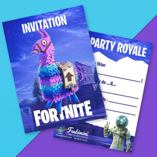 Carte Invitation Anniversaire Gratuite A Imprimer Fortnite