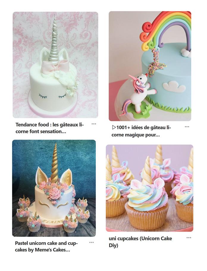 gâteau licorne inspiration