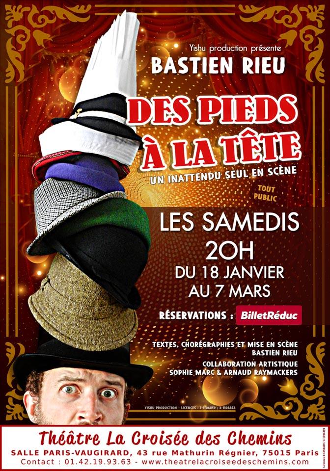 Théâtre : Bastien Rieu «Des pieds à la tête»